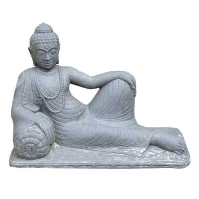 Halbliegender Buddha, Lavaguß