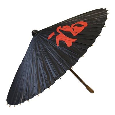Sonnenschirm aus Papier - Schwarz