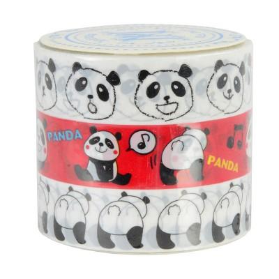 3er-Set Masking Tape 'Pandas'