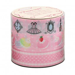 3er-Set Masking Tape 'Pink Decoration'