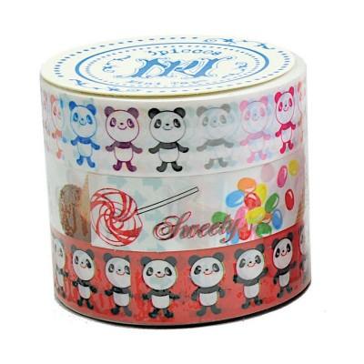 3er-Set Masking Tape 'Sweet Panda'