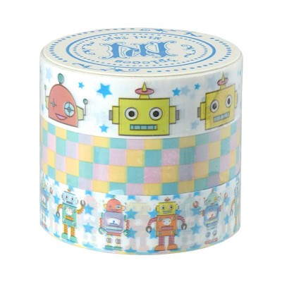 3er-Set Masking Tape 'Toy Robot'