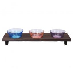 3er-Set Sakebecher aus Glas Farbverlauf