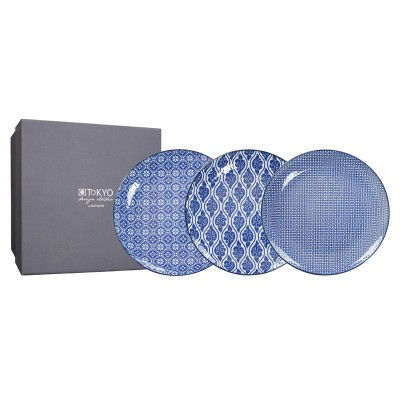 3er-Set Teller 'Japan blau' 20,6cm