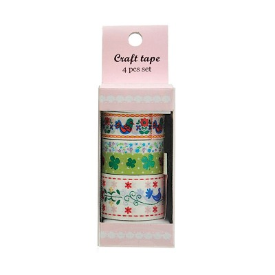 4er-Set Craft tape – Masking Tape 'Flowers'
