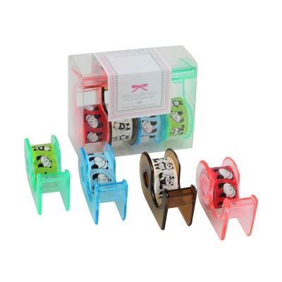 4er-Set Masking Tape 'Panda' mit Abroller