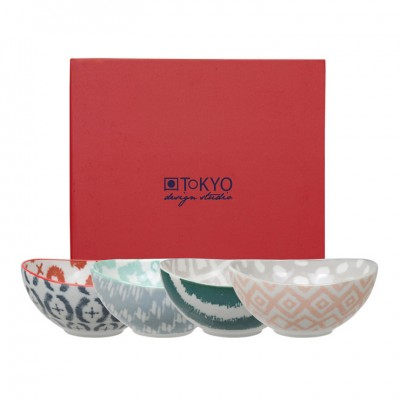 4er-Set Schalen 'Kasuri' 11x10,5cm