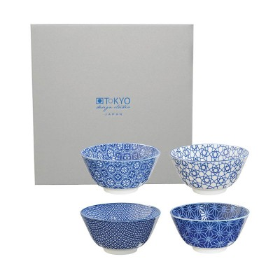 4er-Set Speiseschalen 'Japan Blau'
