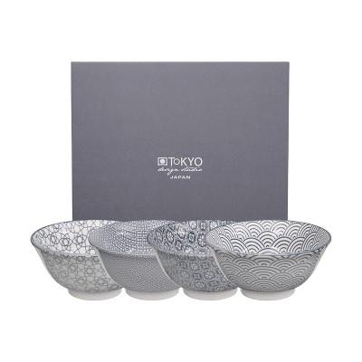 4er-Set Speiseschalen - Japan Grau - 15,2x6,7cm