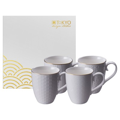 4er Set Teetassen - Japan weiß