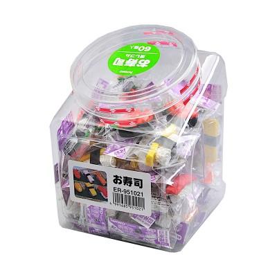60er-Packung Radiergummi 'Sushi'