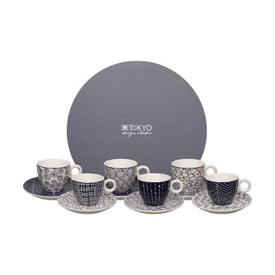 6er-Espresso-Set 'Tomekon' 12-teilig