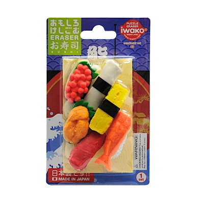 6er-Set Radiergummi 'Sushi'