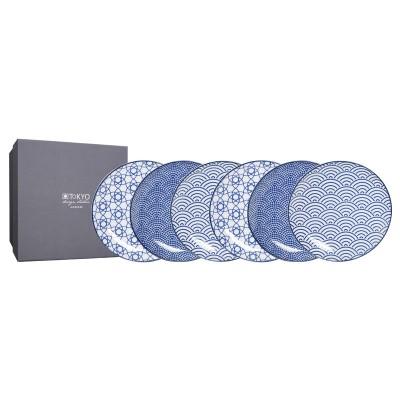 6er-Set Teller 'Japan blau' 16cm