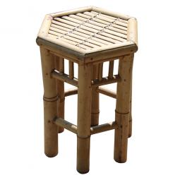 3er Hocker-Set Bambus, sechseckig