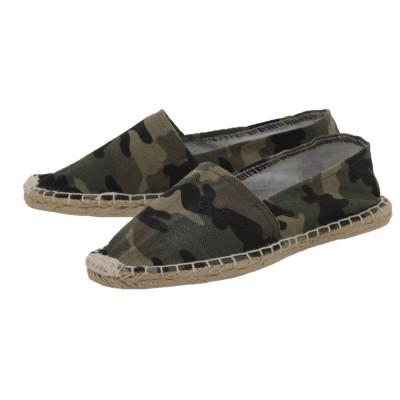 Espadrilles mit Camouflage Muster Canvas Herren und Damen Slipper