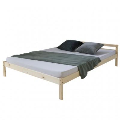 Massivholz Doppelbett lackiert