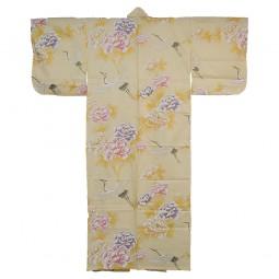 Kimono für Damen - Kranich und Pfingstrose