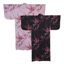 Kimono für Damen - Nachtigall und Pflaume