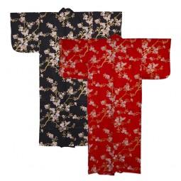 Kimono für Damen - Schmetterlinge und Kirschblüten