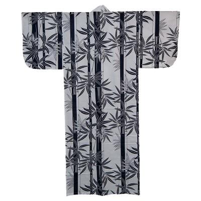 Kimono für Damen - Weiß mit Bambus