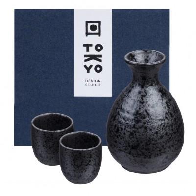 Sake Set - Kuro Tetsusabi