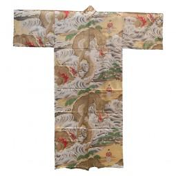 Seiden Kimono für Herren - Großer Drache gold
