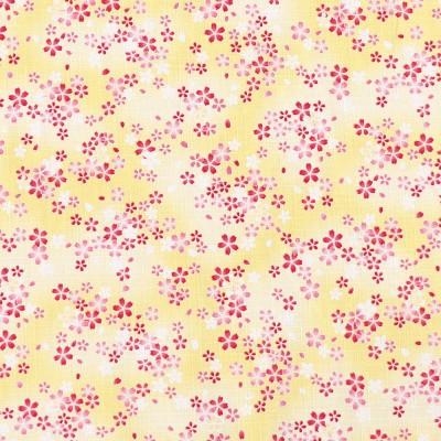 Stoff Hirahira Sakura gelb