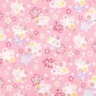 Stoff Usagi to Sakura rosa