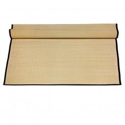 Tatami-Rollmatte - natur mit schwarzer Borte