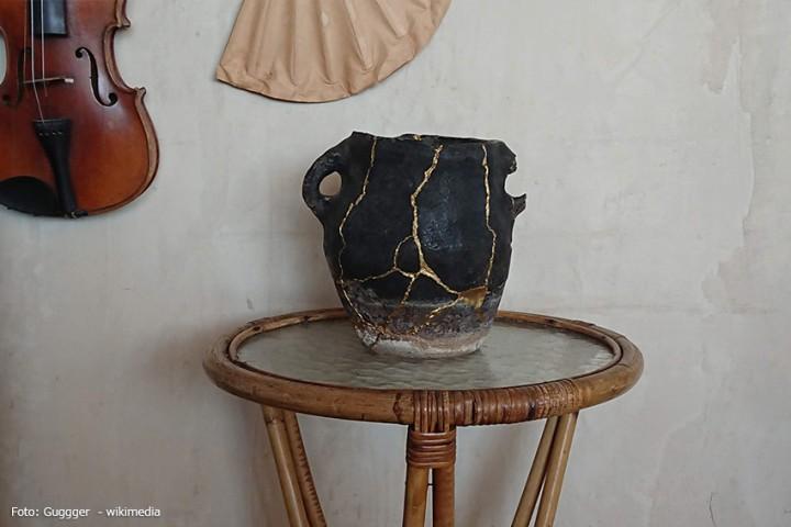 Kintsugi – Keramikreparatur mit Gold und Edelmetallen