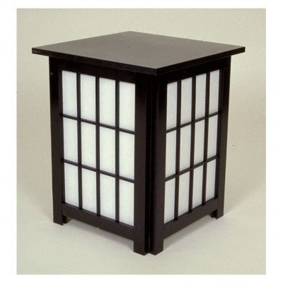 Andon end table schwarz 40x40 H=49cm