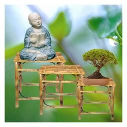 3er Set - Bambusbeistelltischchen