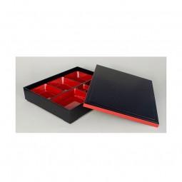 Bentobox - schwarz mit beweglichen Einsätzen