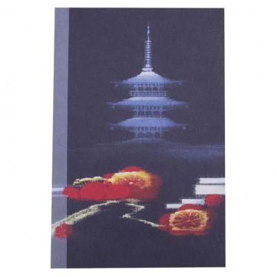 Briefkarte Blaue Pagode