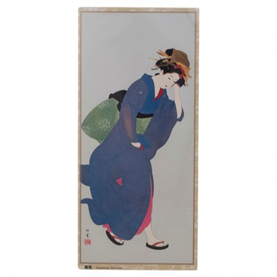 Briefkarte Geisha