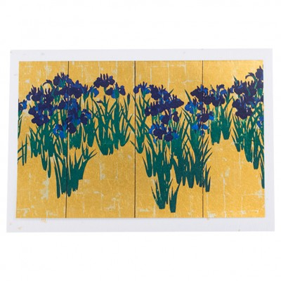 Briefkarte Iris