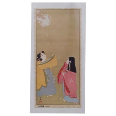 Briefkarte Junge Damen