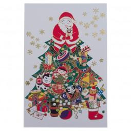 Briefkarte Santa