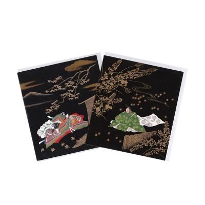 Briefkarten - Schwarz-Gold