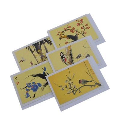 Briefkarten - Vögel und Blumen