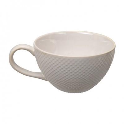 Cappucino Tasse 'Struktur - Mizutama - weiß' 17cm