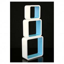 Cube Retro Design Wandregal 3er Set - quadratisch