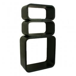 Cube Wandregal 3er Set - Kunstleder