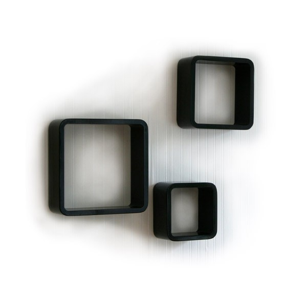 cube wandregal 3er set quadratisch regale wohnen. Black Bedroom Furniture Sets. Home Design Ideas