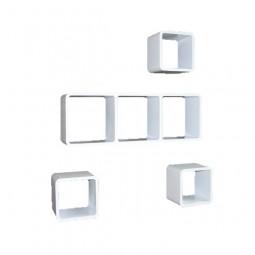 Cube Wandregal 4er Set mit 3er Element
