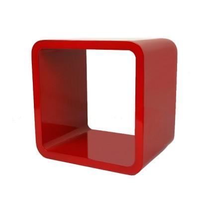 Cube Wandregal rot / dunkelbraun