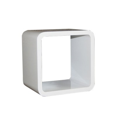 Cube Wandregal schwarz / weiß