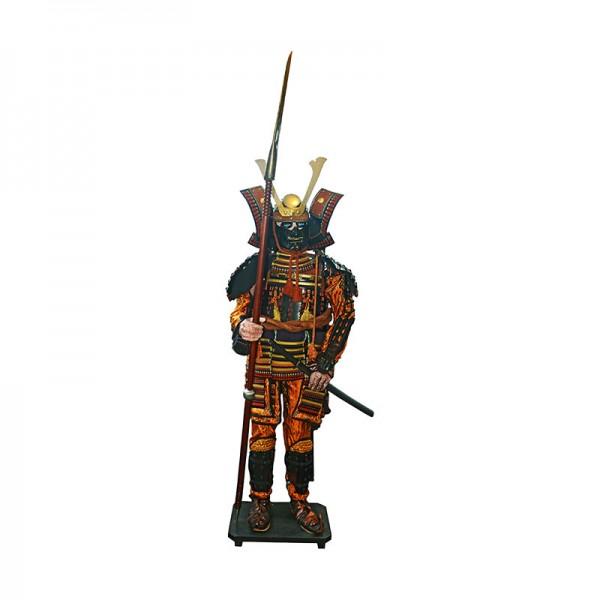 deko samurai r stung 200cm stehend puppen traditionelles japanwelt. Black Bedroom Furniture Sets. Home Design Ideas