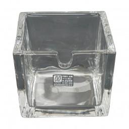 Ersatz-Glasbehälter für Ingwer 8x8x7cm Glas (ohne Deckel)